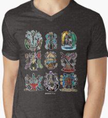 Camiseta de cuello en V Vox machina Insignia