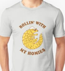 Pangolin Rollin' With My Homies Unisex T-Shirt