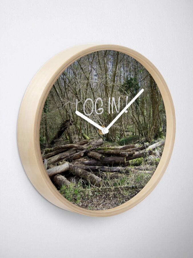 Alternate view of Log in! Clock