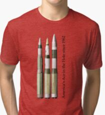 Ace in the Hole - the Minuteman III series (MM1, MM2, MM3-early) Tri-blend T-Shirt