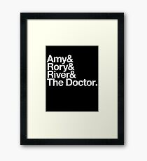 Amy & Rory & River & The Doctor. Framed Print
