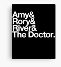 Amy & Rory & River & The Doctor. Canvas Print