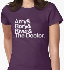 Amy & Rory & River & The Doctor. Womens Fitted T-Shirt