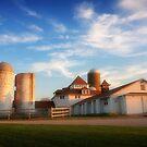 Farmhouse at Sunset II by David Lamb