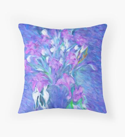 TheScent Of Flowers Throw Pillow