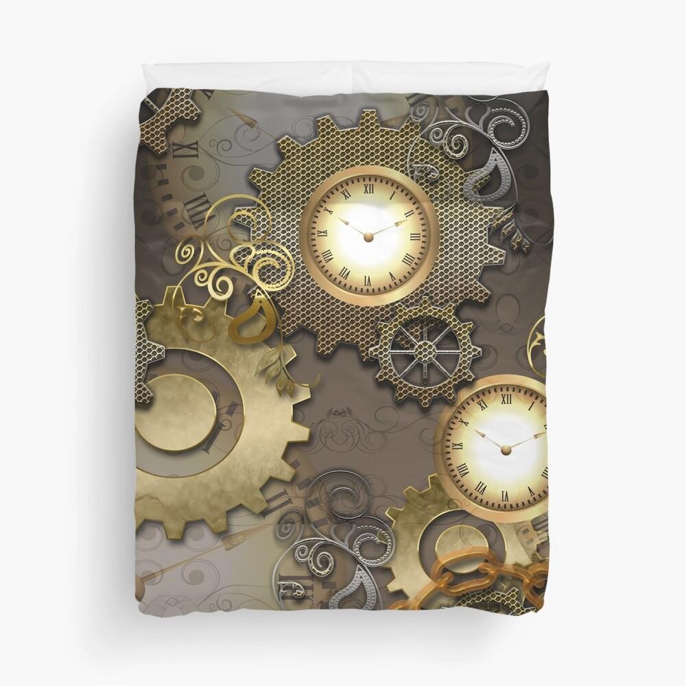Steampunk, clocks and gears  Duvet Cover