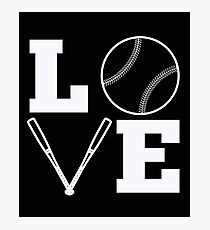 LOVE Baseball - Mom Baseball Stuff Photographic Print
