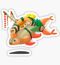 Distressed sushi  Sticker
