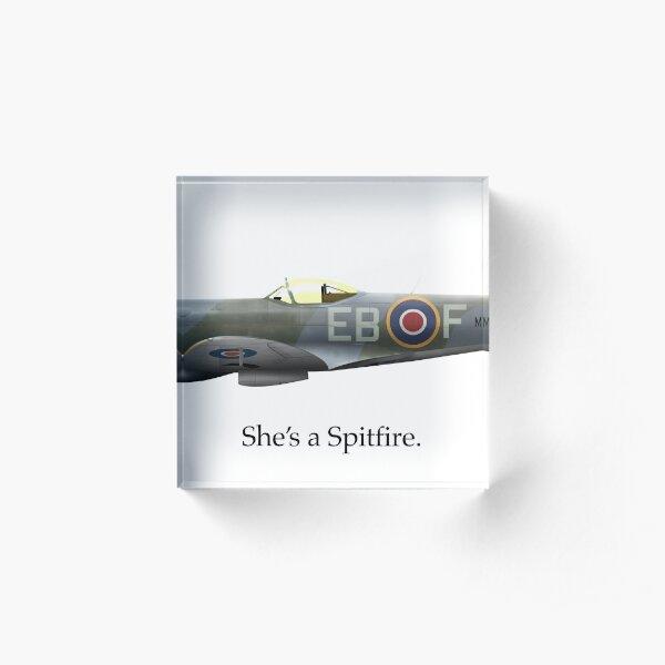 She's a Spitfire Acrylic Block