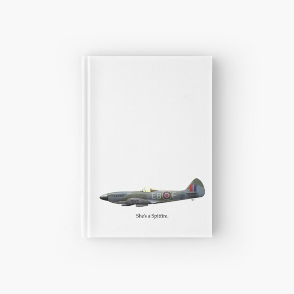 She's a Spitfire Hardcover Journal
