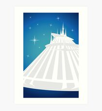 Space Mountain Illustration Art Print