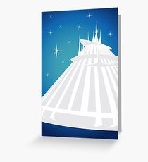 Space Mountain Illustration Greeting Card