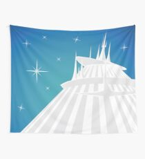Space Mountain Illustration Wall Tapestry