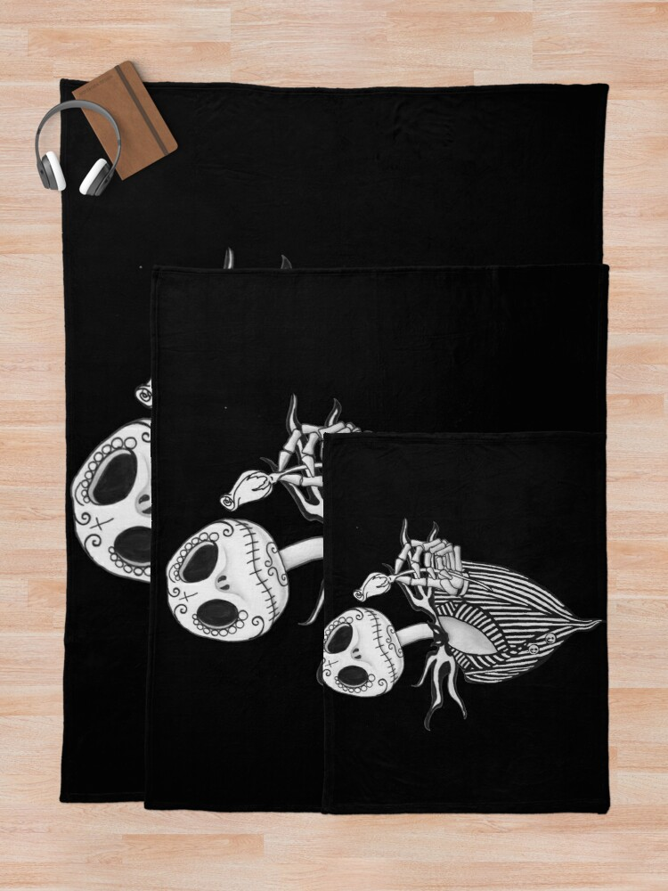Alternate view of Sugar Skull Jack Skellington Throw Blanket