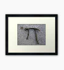 Broken pi Framed Print
