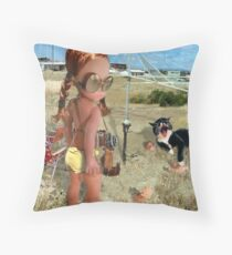 With The Sunman Throw Pillow