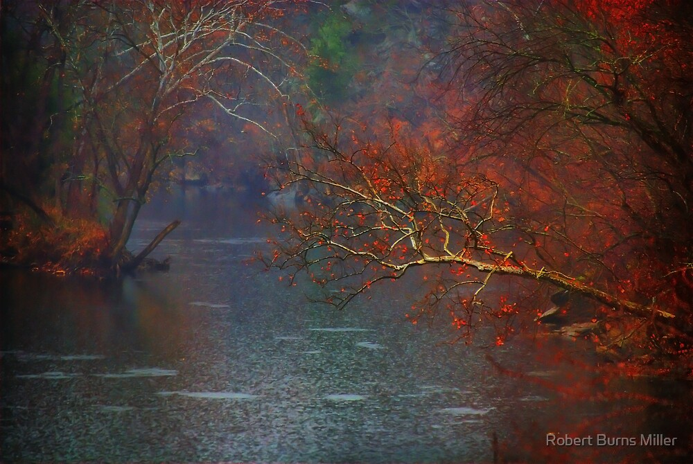 Rainy Day on the James River by Robert Burns Miller