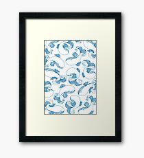 Playful Whales  Framed Print