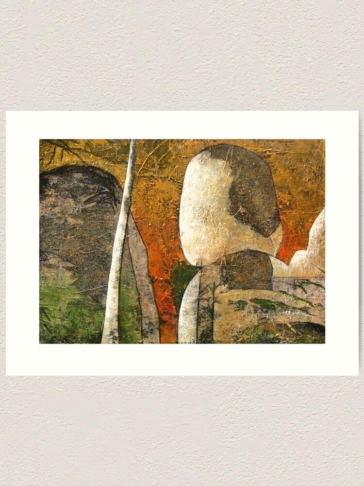 Alternate view of Balancing Rock Art Print