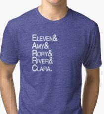 Eleventh Doctor Companions Tri-blend T-Shirt