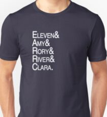 Eleventh Doctor Companions Unisex T-Shirt