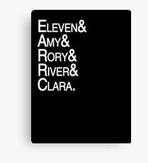 Eleventh Doctor Companions Canvas Print