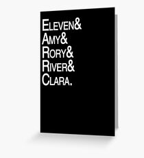 Eleventh Doctor Companions Greeting Card