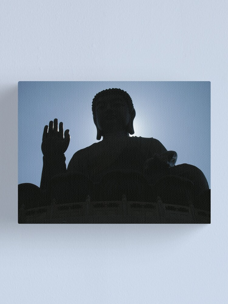 Alternate view of Buddha says hello Canvas Print