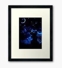 Prongs night Framed Print