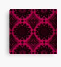 Raspberry Black Flower Canvas Print