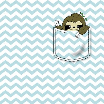 sloth in my pocket by hellohappy