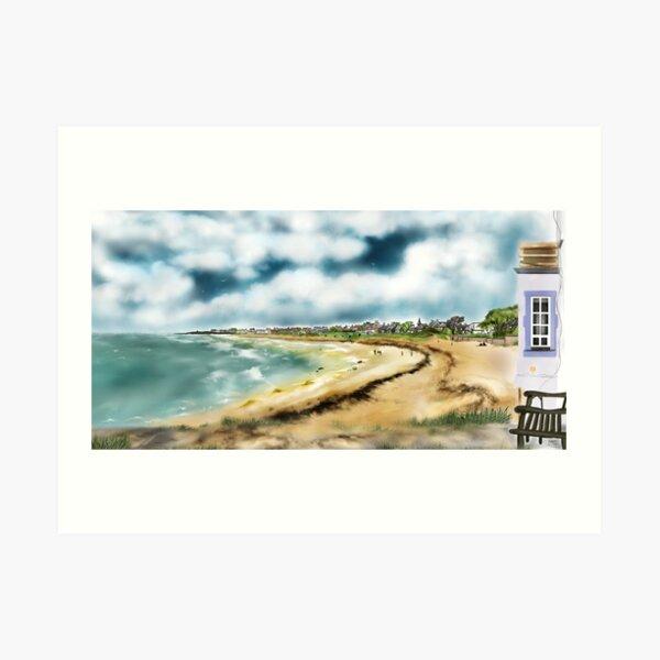 Elie Shorefront [Digital Landscape and Architecture Illustration] Scottish Seaside Towns Art Print