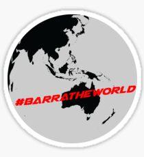 #BarraTheWorld Design #1 Sticker