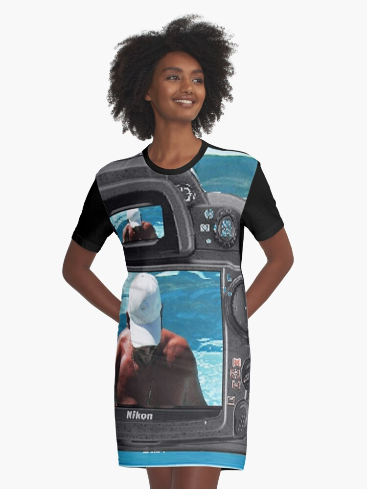 Look to the camera.......... Graphic T-Shirt Dress Front