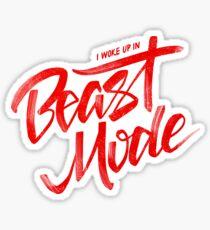Bestien-Modus - Rot - Großer Sean Sticker