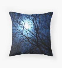 Blue Moon for Bev~ Throw Pillow