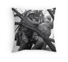 Iwo Jima Memorial through the Trees Throw Pillow
