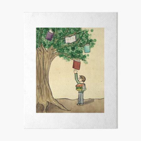 Books Do Grow on Trees Art Board Print