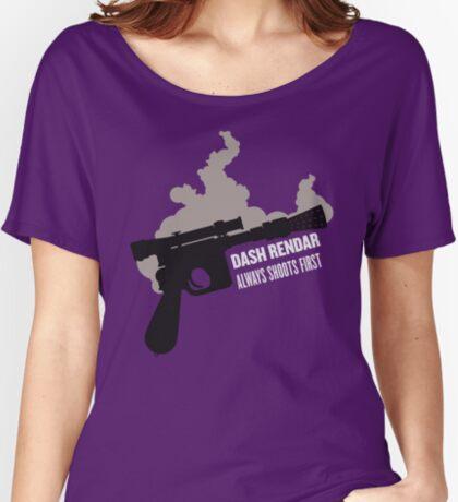 Dash Rendar ALWAYS Shoots First Relaxed Fit T-Shirt