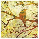 Honey Eater & Banksia 3  by Karyn Fendley