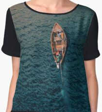 Gone for the Ocean Chiffon Top