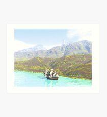 Skirting the Coast Art Print