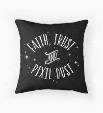 Faith Trust and Pixie Dust // Peter Pan Tshirt Throw Pillow