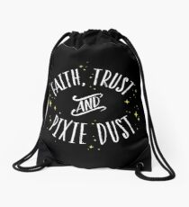 Faith Trust and Pixie Dust // Peter Pan Tshirt Drawstring Bag