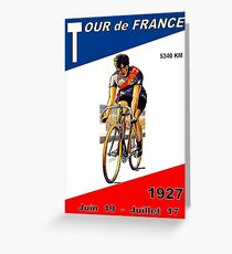 TOUR DE FRANCE: Vintage Bicycle Racing Print Greeting Card