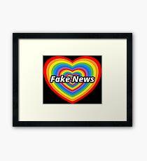 Fake News Framed Print