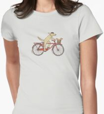 Dog & Squirrel are Friends Womens Fitted T-Shirt