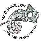 My Chameleon Ate My Homework by jitterfly