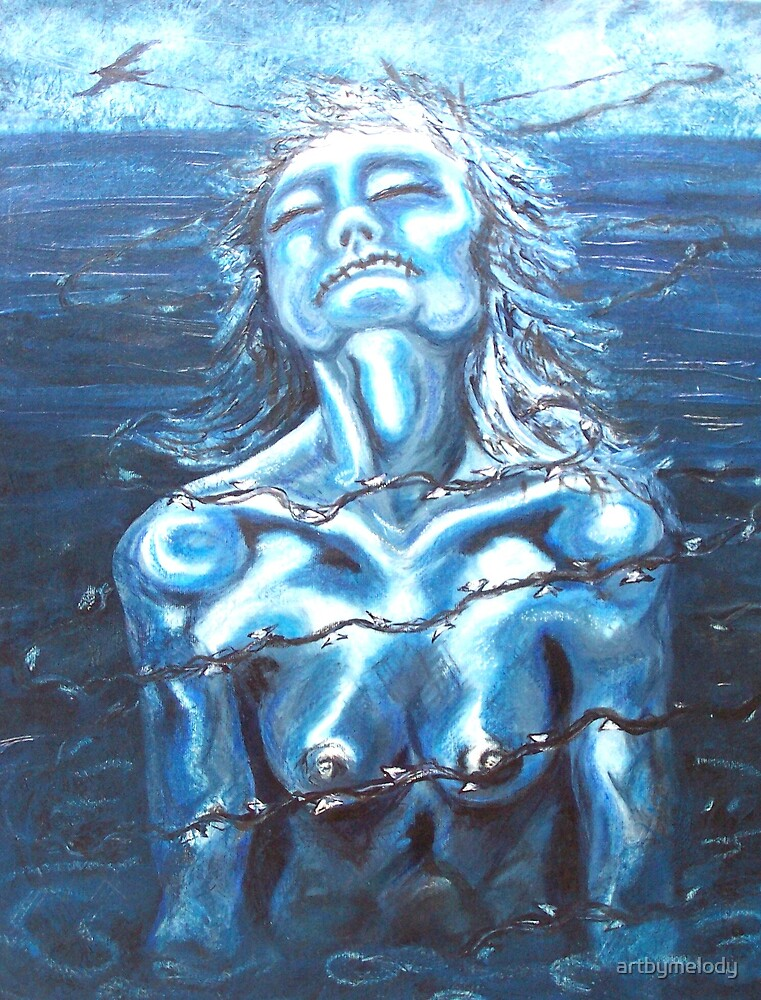 'My torment' Acrylic and oil on canvas. by artbymelody