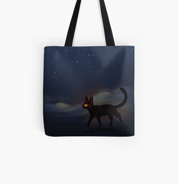 Black Cat All Over Print Tote Bag